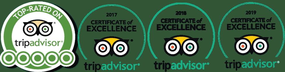 Dancing Kangaroo Tours TripAdvisor Certificate of Excellence